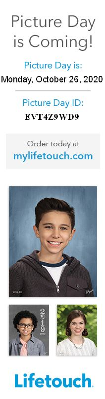Lifetouch Picture Day is October 26th, 2020