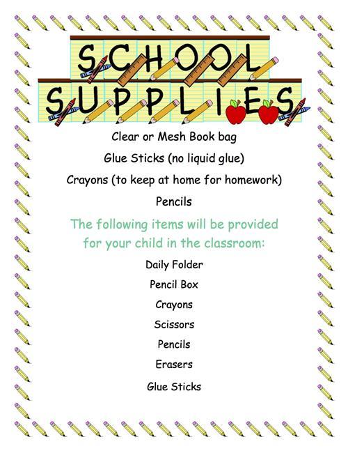 Gass, Lisa / Classroom Supply List